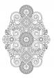花のコロリアージュ フラワーデザインぬり絵ブック / サムネイル 3